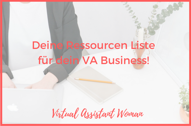 ressourcen liste virtuelle assistenten