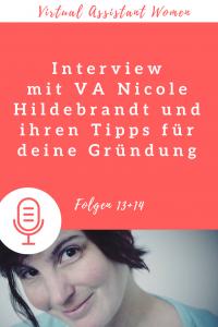 VA Nicole Hildebrandt Gründung Pinterest