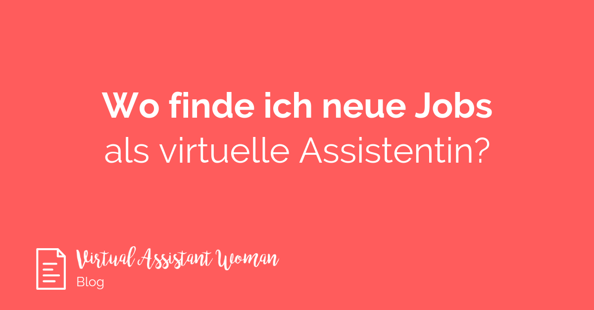 Jobs Kundensuche virtuelle Assistentin