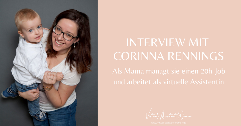 Corinna Rennings - Virtuelle Assistentin mit Kind