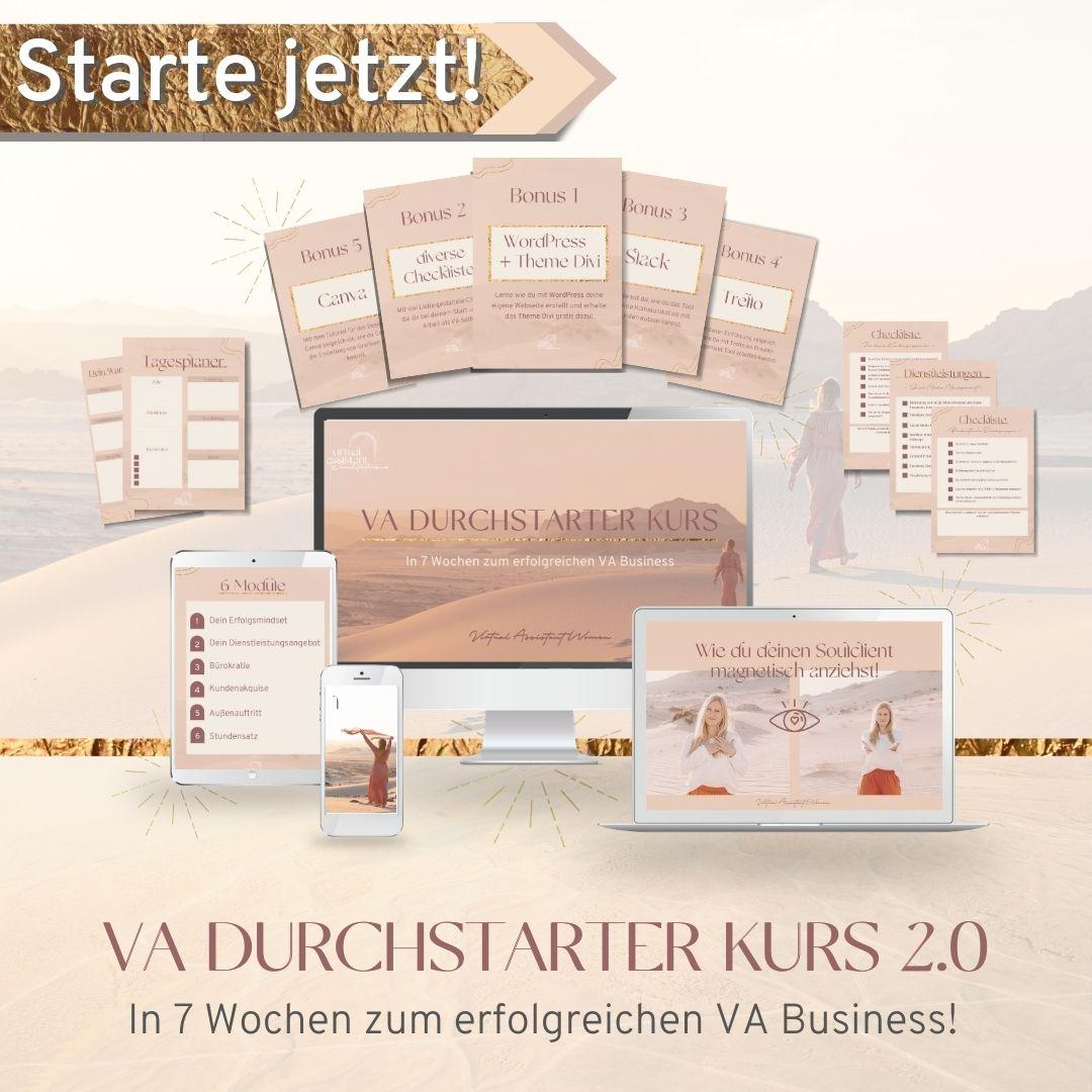 VA Durchstarter Kurs 2.0 Mockup